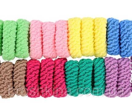 Резинки для волос микрофибра широкие Ø5 см  24 шт/уп.