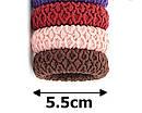 Резинки для волос микрофибра широкие Ø5.5 см  24 шт/уп., фото 2