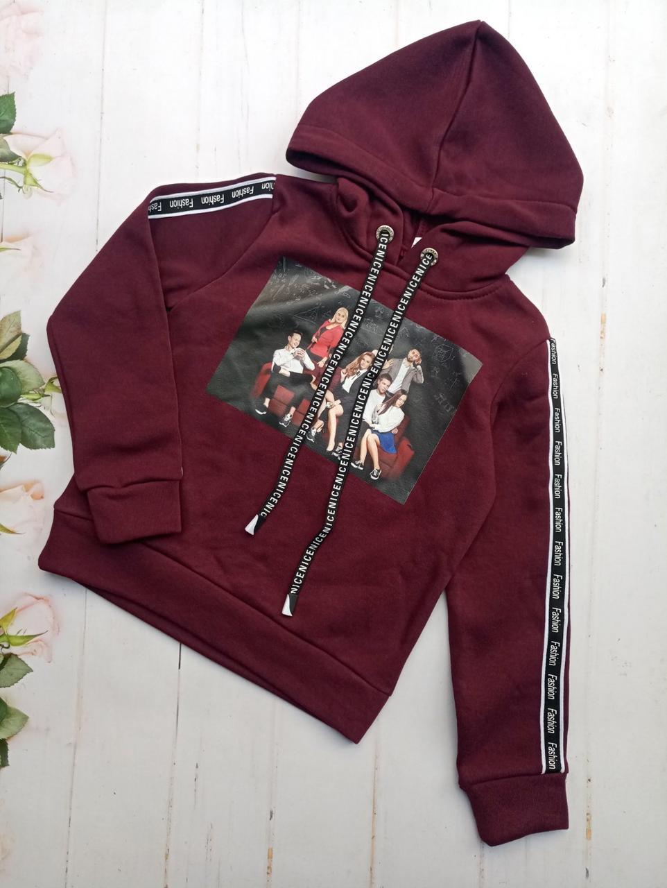Штани для дівчинки, з капюшоном 128-152 опт