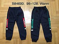 Спортивные штаны утепленные для мальчика оптом, Grace, 98-128 см,  № В84690, фото 1