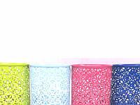 Стакан для ручек металл круглый ажурный 8022 микс цветной