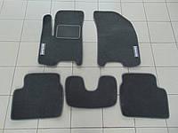Коврики в салон ворс для Chevrolet Aveo 03- серый, Beltex, комплект 5шт