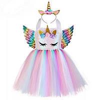 Платье для девочки в стиле единорога 2-15 лет