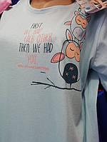 Женская сорочка (туника) с коротким рукавом , хлопковая и натуральная,размер 48-50, 52-54.
