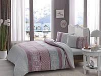 Комплект постельного белья двуспальный евро Фланель TAC Jenny Mint с простыню на резинке
