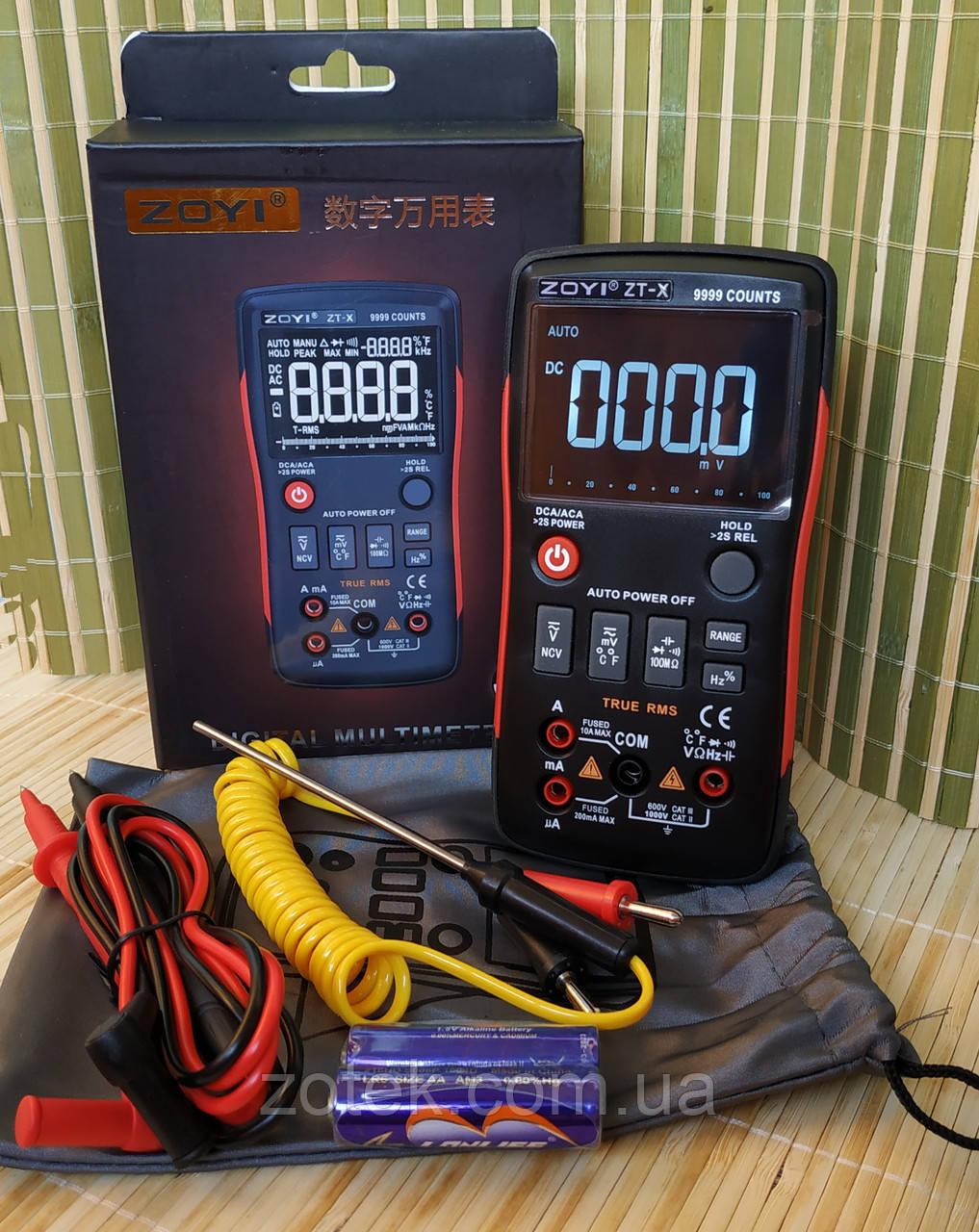 Защищённый мультиметр ZOYI ZT-X RM409b 9999 отсчётов ZOTEK  ( Richmeters RM409b , ANENG Q1 ) тестер вольтметр