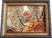 """Картина із бурштину """"Природа"""" (20 x 30 см) B093"""