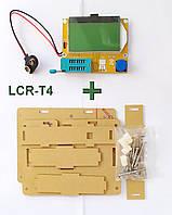 LCR-T4 + корпус акриловый. Тестер электронных компонентов радиодеталей, LCR ESR метр Mega328 транзистор тестер