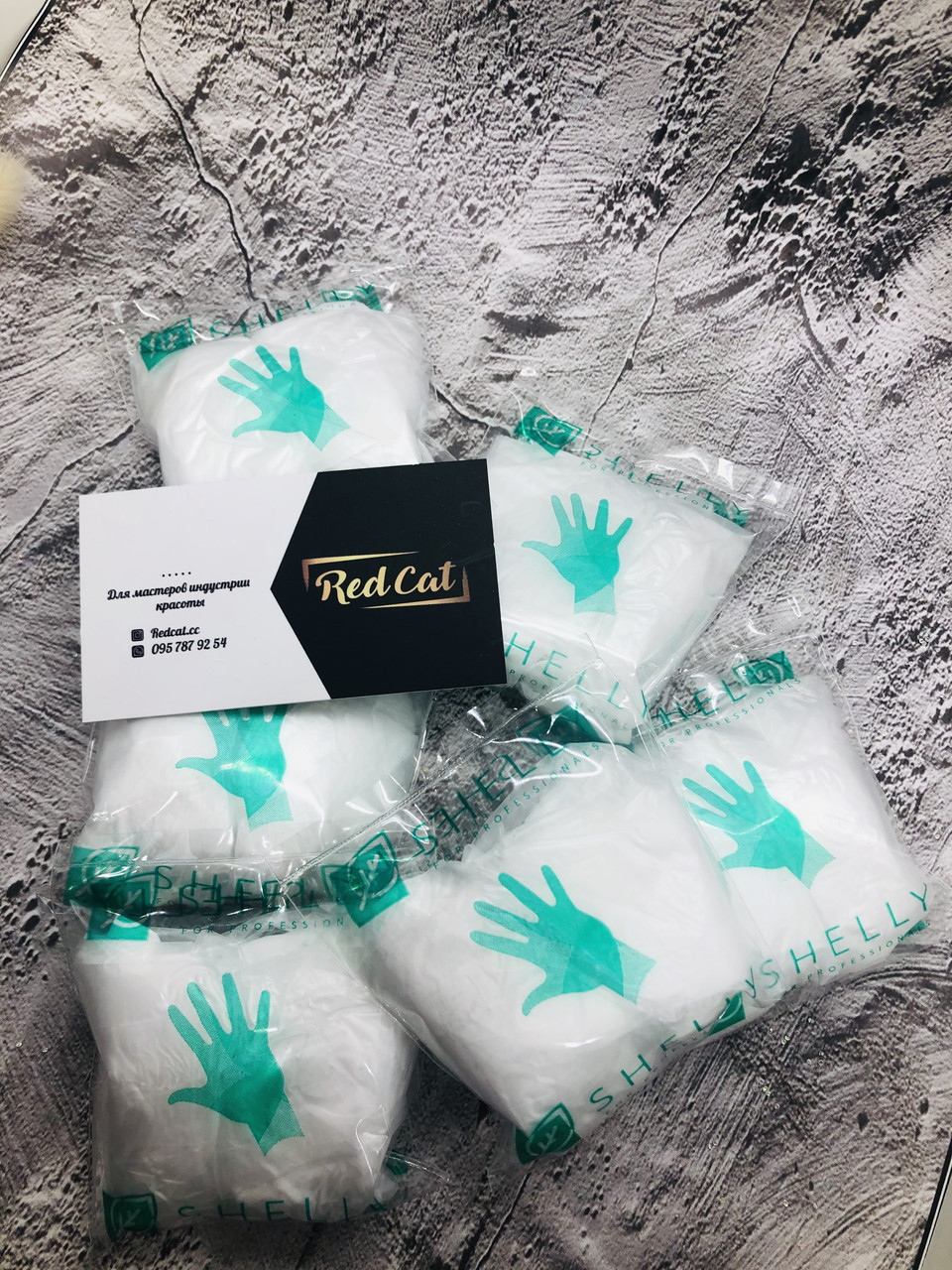 Перчатки одноразовые для маникюра SHELLY