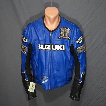Мотокуртка SUZUKI  б/у кожа, фото 2