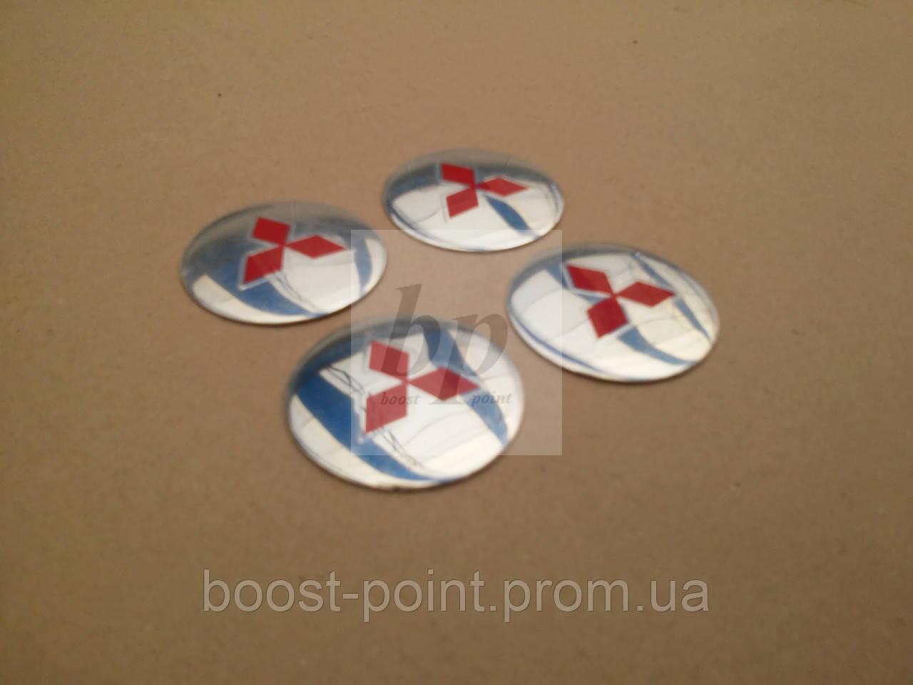 заглушка на литой диск с логотипом митсубиси