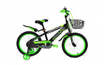 "Велосипед дитячий CROSSRIDE BRIX 18"" + опорні колеса + крила + кошик"