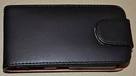 Чехол-книжка для телефона Nokia C2-06 черный матовый с пластиковым креплением.