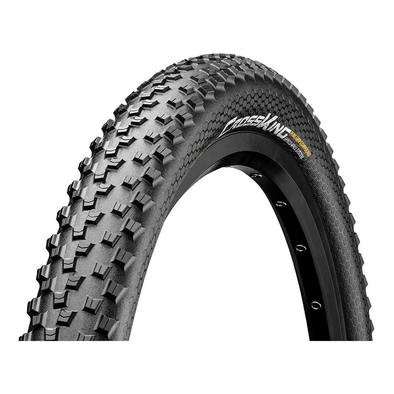 "Покрышка Continental Cross-King 2.0, 26""x2.00, 50-559, Wire, PureGrip, Performance, Skin, 620гр., черный"