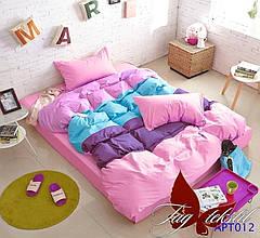 Комплект постельного белья полуторный Color mix APT012 ТМ TAG 1,5-спальный, постельное белье полуторка