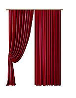 Комплект штор Бархат Красный