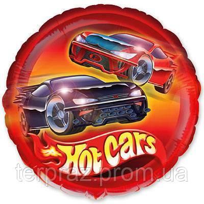 """Фольгированные шары с рисунком  18"""" машины гоночные/fm"""