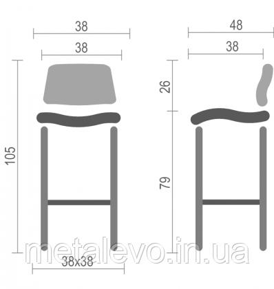 Высокий барный стул хокер Тина (Tina) Nowy Styl СН Н, фото 2