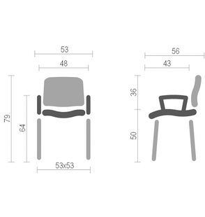 Офисный стул для посетителей со столиком Исо Net (Iso Net) Nowy Styl BL, фото 2