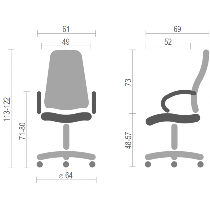 Офисное кресло для руководителя Турбо (Turbo) Nowy Styl PL TILT, фото 2