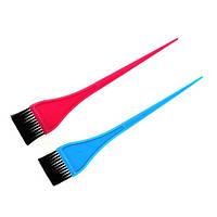 Кисть для покраски волос узкая цветная YRE-214