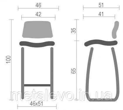 Высокий барный стул хокер Алия (Aliya) Nowy Styl CH H CFS, фото 2