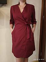 Медицинский халат (платье). Цвет: бордовый. Ткань:  коттон