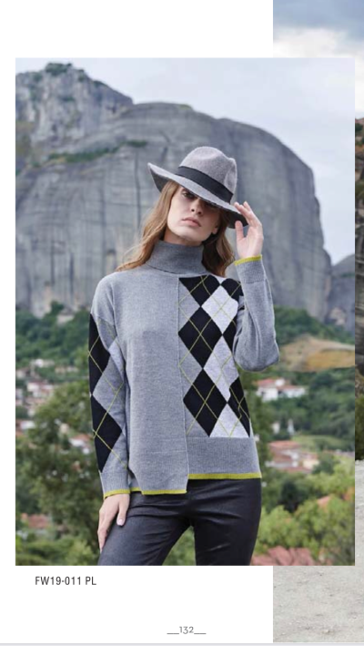 Пуловер женский, чёрный Marina V Франция FW19-011PL