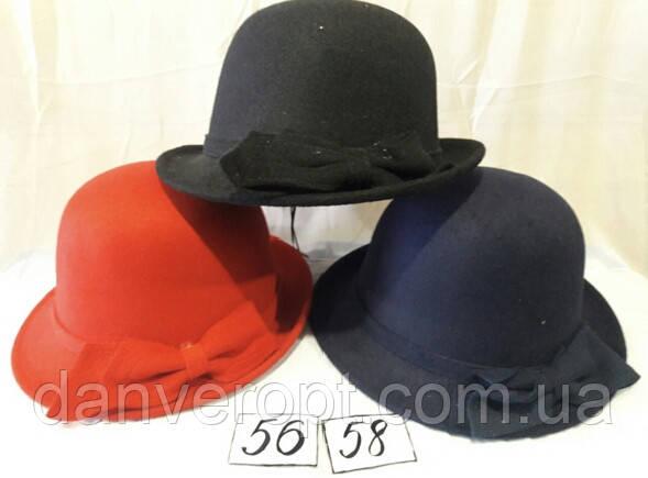 Шляпа молодежная стильная модная с бантом размер 56-58 см купить оптом со склада 7 км Одесса