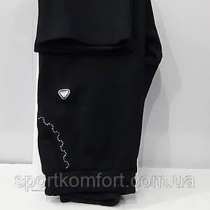 Большие тёплые женские брюки, чёрные, 80 хлопок, Турция, Soccer.