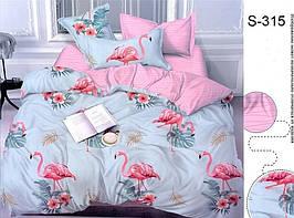 Комплект постельного белья полуторный с компаньоном S315 ТМ TAG 1,5-спальный, постельное белье полуторка