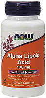 NOW Alpha Lipoic Acid 100 mg 60 veg caps, фото 1