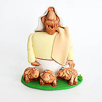 Глиняная статуэтка. Авраам с тремя овцами.