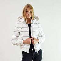 Пуховик женский Snowimage белый короткий