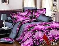 Комплект постельного белья полуторный R2041 ТМ TAG 1,5-спальный, постельное белье полуторка