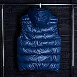 Чоловічий жилет синього кольору., фото 9
