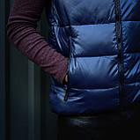 Чоловічий жилет синього кольору., фото 2