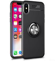 """Силиконовый чехол Deen ColorRing под магнитный держатель для Apple iPhone X (5.8"""") (выбор цвета)"""