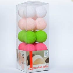 Гирлянда Cotton ball lights Early Spring (20 шаров)