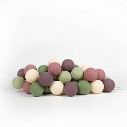 Гирлянда Cotton ball lights Forest Fruit (20 шаров)
