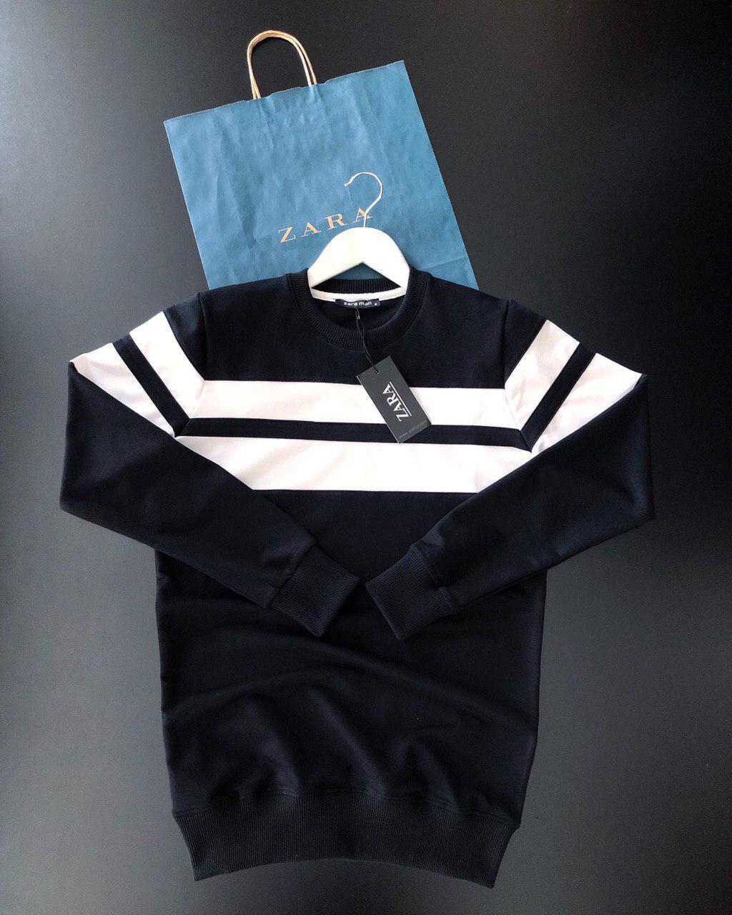 Мужской свитшот Zara black/white (реплика)