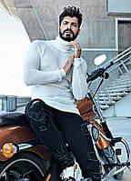 Мужской свитер белый турецкий А-2311