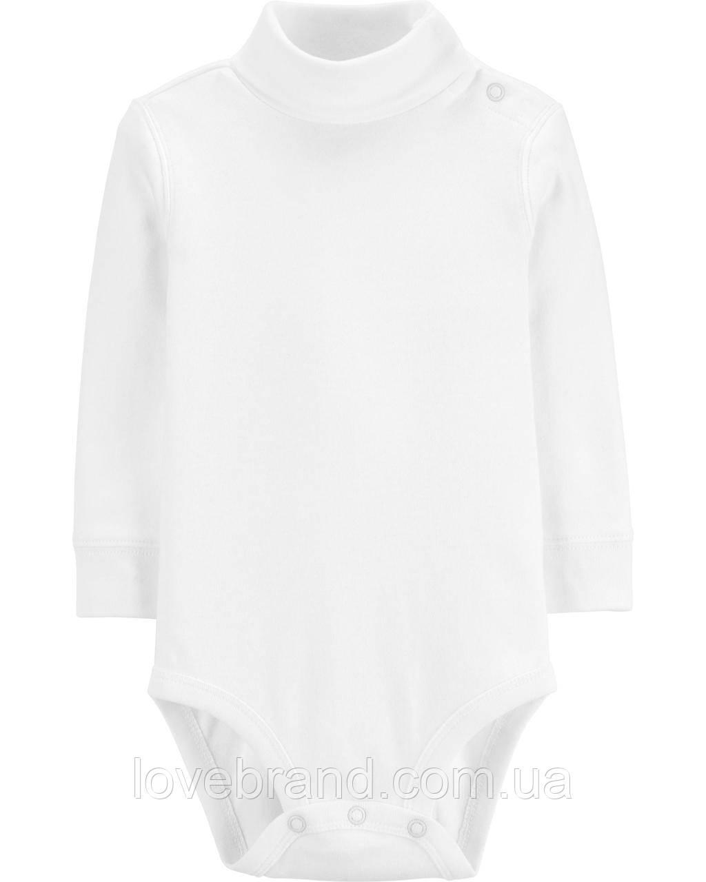 Белый гольф-боди  для мальчика OshKosh (США) 12 мес/72-78 см