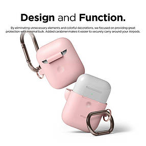 Чехол Elago A2 Hand silicone Airpods Wireless Charging Lovely Pink (EAP2SC-HANG-PK) EAN/UPC: 8809461760308, фото 2