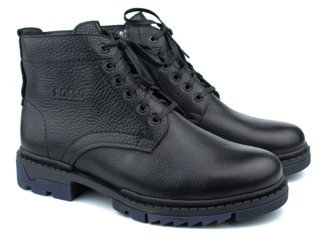 Большие размеры зимние ботинки ручной работы мужская обувь из натуральной кожи Rosso Avangard Ultimate Bluish
