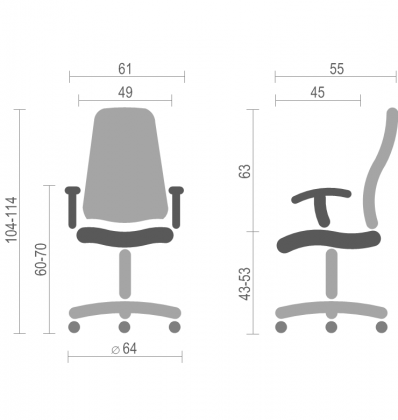 Кресло Интер TK (Inter TK) Nowy Styl PL GTR SR(L), фото 2