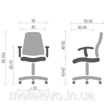Детское кресло поворотное Фокс 12 OP (Fox 12 OP) Nowy Styl PL GTP OV, фото 2