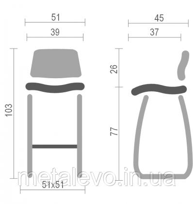 Высокий барный стул хокер Ральф CFS (Ralph CFS) Nowy Styl BL H, фото 2