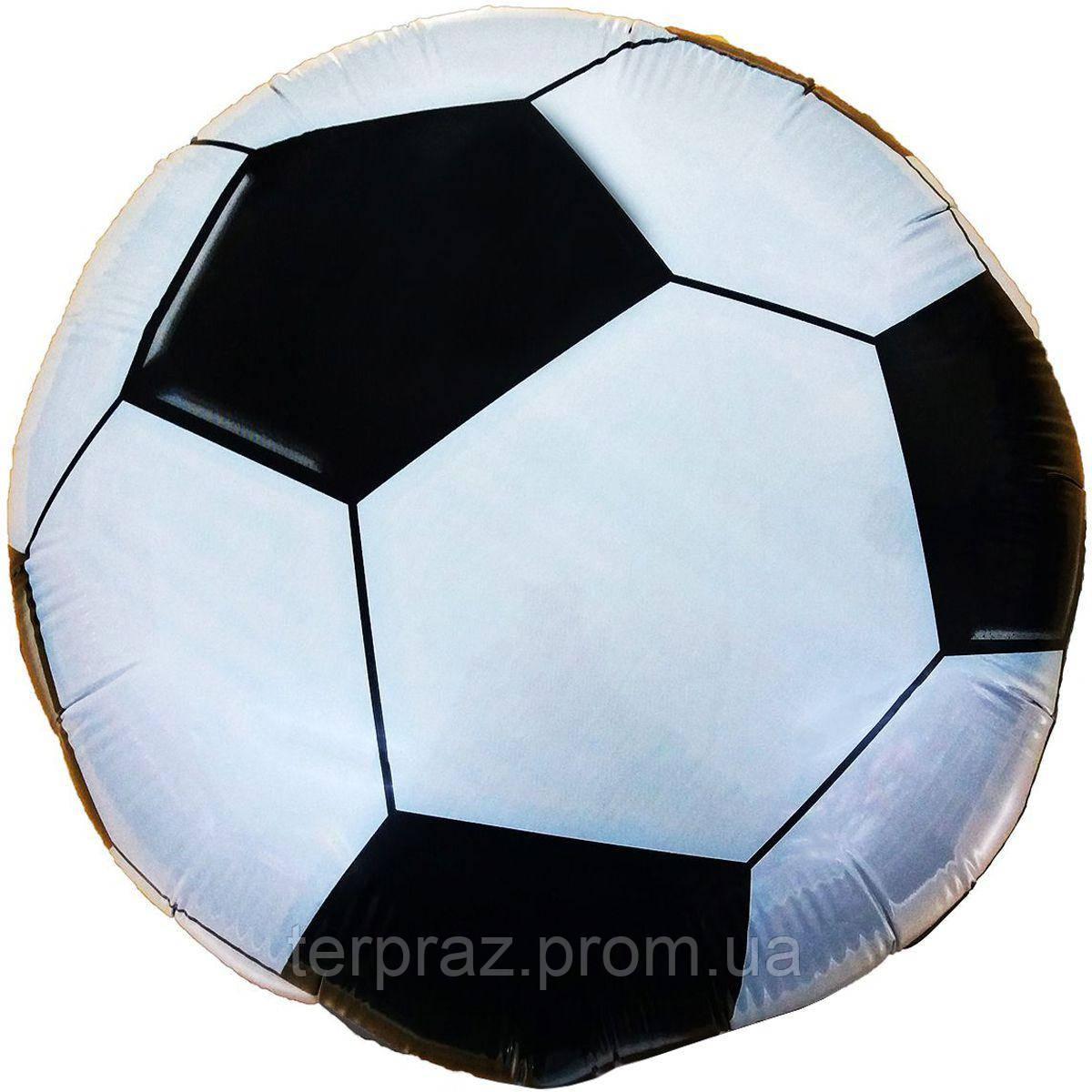 """Фольгированные шары с рисунком  18"""" футбольный мяч/fm"""