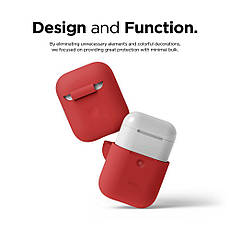 Чехол Elago A2 silicone Airpods Wireless Red (EAP2SC-RD) EAN/UPC: 8809461760384, фото 3